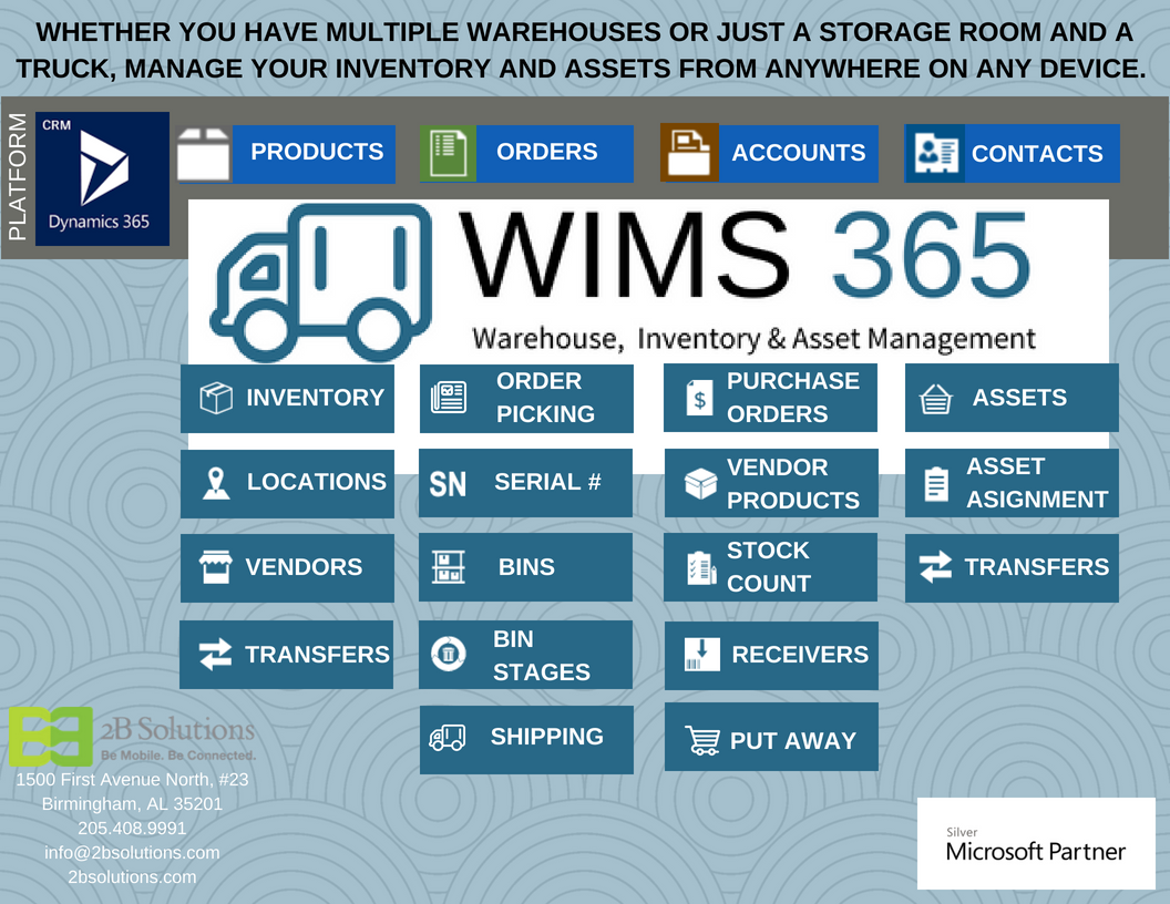 WIMS 365 • Warehouse Inventory Management System • 2B Solutions